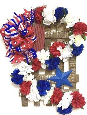 SALE! Outdoor Patriotic Wreath Door Fourth of July Independence Day Veterans  - Patriotic Door Wreaths