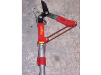 ANVIL TREE LOPPER AND HANDLE BY WOLF (MULTI CHANGE HEAD), USED