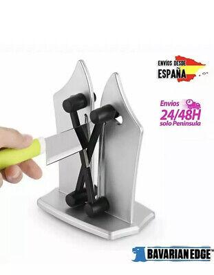 Afilador de cuchillos profesional de acero para cocina afila en segundos