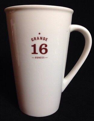 Starbucks Mug Grande 16 Ounces 2010 White Brown