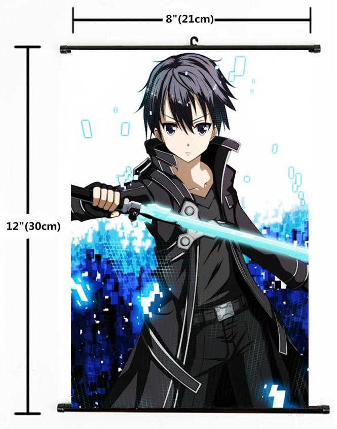 Sword Art Online Kirito GGO Anime Wall Poster Scroll Cosplay