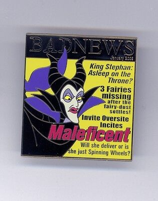 Disney Sleeping Beauty Villain Maleficent Being Bad Magazine Cover LE Pin