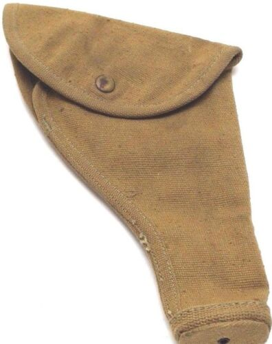1943 British 455 webley holster tan canvas fits US 45 unclear stamps each E7243