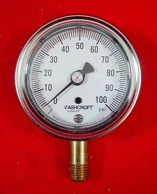 Ashcroft Pressure Gauge 100 Psi 251009aw02l100