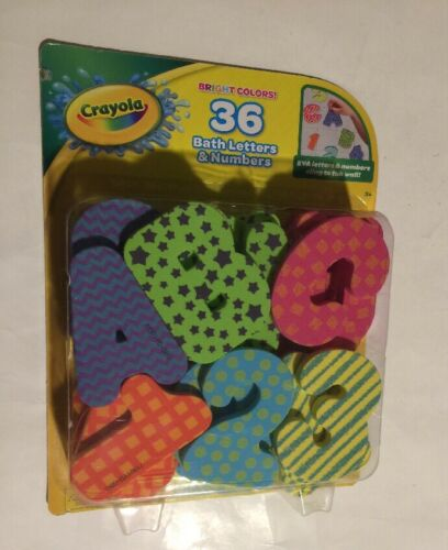 Crayola Bath Letters and Numbers 36 Piece Foam Bright Colors