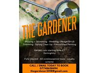 The Gardener - Requires Work - grass cuts/trims/clearance/bark & stone laying/ etc...!