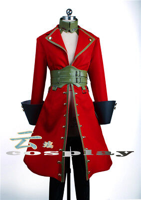 Fate/EXTRA Captain Uniform Francis Drake Cosplay Costume Pirates Cloth Red Coat