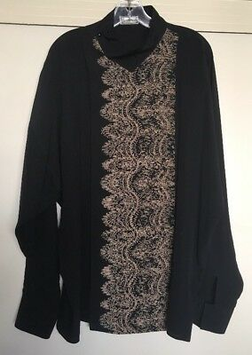 New GIANNI VERSACE Designer Shirt Black Silk XL Fashion BARRIE CHASE COLLECTION