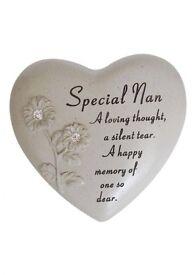 Graveside Heart Memorial for Special Nan