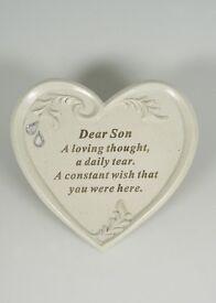 Graveside Heart Memorial for Son