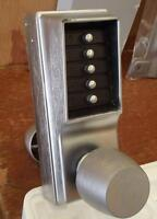 Push button door knobs high security