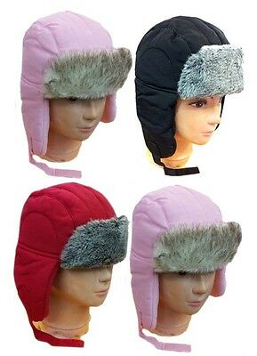 WHOLESALE LOT 12 PCS TODDLER FAUX FUR TROOPER AVIATOR Kid Winter - Kids Aviator Hat