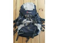 For sale is a Berghaus Antaeus 60+10 backpack.