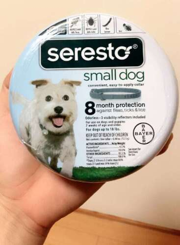 Seresto 8 Month Flea & Tick Prevention Collar for Small Dogs Fast/Free Shipping