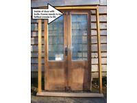 OAK DOUBLE GLAZED FRENCH DOORS