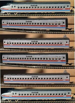 Ho Scale Trains 6 Amtrak High Speed Passenger Cars