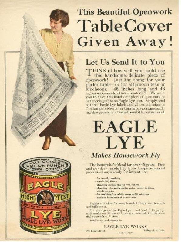 Eagle Lye - Milwaukee, Wisc.  -  1915