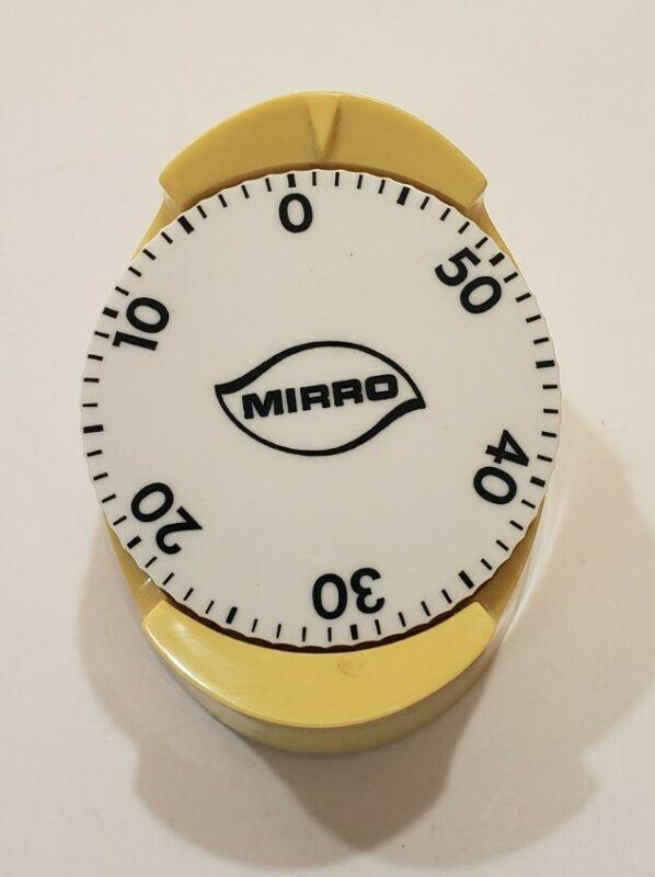 VINTAGE MIRRO HARVEST GOLDKITCHEN 60 MINUTE TIMER MID CENTURY RETRO WORKS GREAT