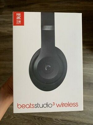 New Beats by Dr. Dre Studio3 Wireless Matte Black Over Ear Headphones MQ562LL/A
