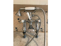 Bristan Birmingham 1901 Pillar Bath Shower Mixer - Chrome Plated