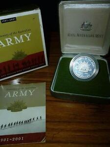 2001 Cent. of the Aust.Army $1 Silver Proof Coin L/E-XMAS SPECIAL Wembley Cambridge Area Preview