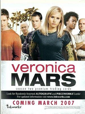 PROMO SELL SHEET AD -VERONICA MARS SEASON 2 +BONUS! - FREE! - PROMO CARD #VM2-P1
