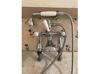 Bristan Birmingham 1901 Pillar Bath Shower Mixer - Chrome Plated