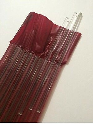 Glass Stirring Rod 8 Long - Pack Of 10 With Plastic Case