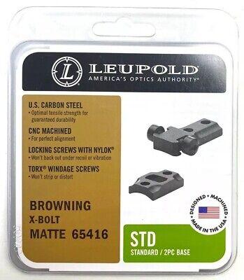 Leupold Std 2 Piece Scope Base Mount Browning X-Bolt  -  #65416 Matte Leupold Std 2 Piece Base