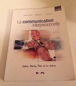 Livre; la communication interpersonnelle