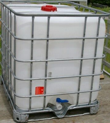 Food Grade Clean Ibc 275 Gallon Liquid Storage Tote Tank Potable Water And Sap.