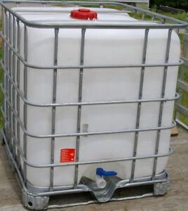 FOOD GRADE Clean IBC 275 gallon Liquid Storage Tote Tank Potable Water and SAP.