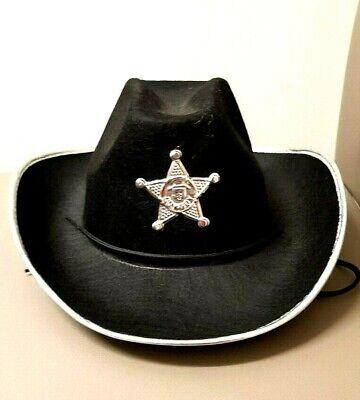 Sheriff Karneval Halloween Fasching Revolverheld Polizeihut Western Cowboy Cowboy-hut Halloween