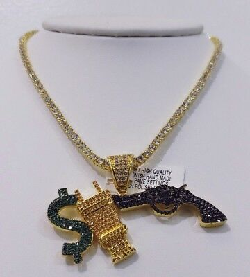 MONEY POWER AND RESPECT CHARM COMBO WITH 40CT BEST QUALITY VVS1