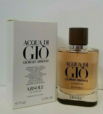 ACQUA DI GIO ABSOLU  Eau de parfum 2.5 oz by GIORGIO ARMANI NEW in TSTR BOX