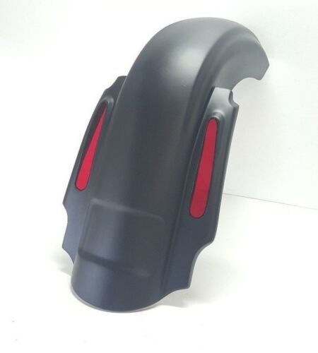 """Cvo Style 4"""" Extended Rear Fender Harley Davidson Touring Dual Exhaust Flh"""