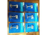 6 Handrail Brackets Brass