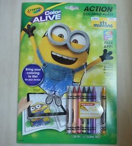 Crayola Color Alive Minions Action Coloring Pages Book