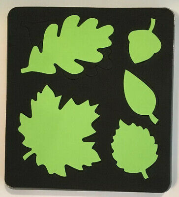 Stampin Up Sizzix Bigz Die ~ AUTUMN ACCENTS ~ Tree Maple Leaf Acorn Oak Leaves