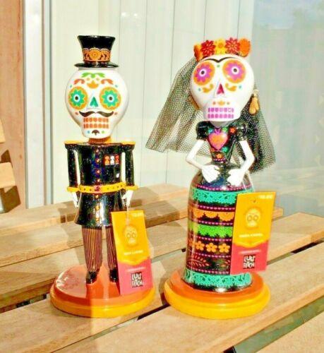 Luis Fitch Dia De Muertos Sugar Skull Calavera Figurines HTF Set of 2
