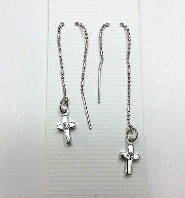 (Cross Style Dangle Threader earrings #1)