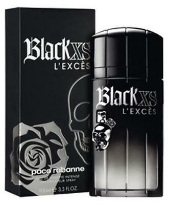 BLACK XS L'EXCES INTENSE Men Paco Rabanne 3.3 oz 3.4 edt Spray New in BOX, used for sale  Shipping to Canada
