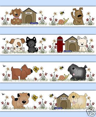 Puppy Dog Wallpaper Border Wall Art Decal Puppies Animal Kids Sticker Room Decor
