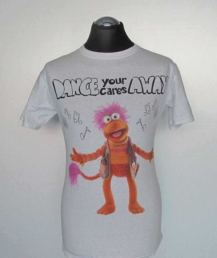 "T-Shirt | Die Fraggles - ""Dance Your Cares Away"" | Weiß | Größe M | Neu!"