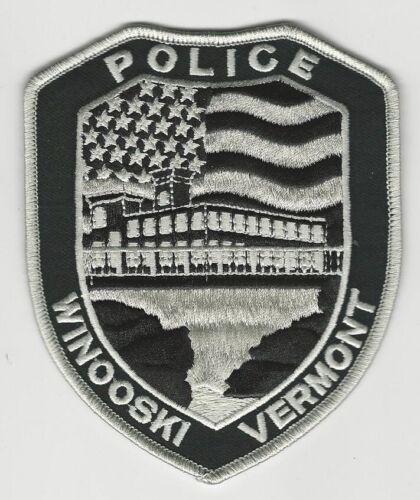 SWAT SRT  US Flag patch Winooski Police State Vermont VT