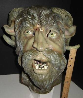 Monster Prop Mask - Halloween - Horror Quality Private Collection Horned Bigfoot - Bigfoot Masks