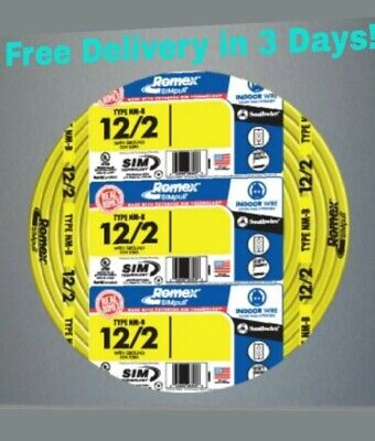 122 Wground Romex Indoor Electrical Wire 100 Feet All Lengths Available