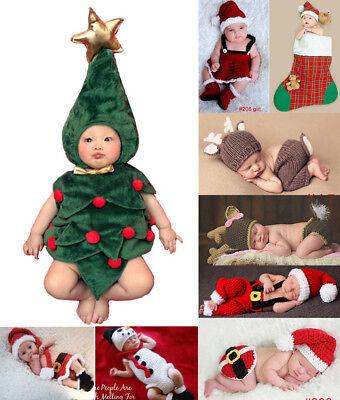 Weihnachten Serie Neugeborene Baby Knit Strick Fotografie Fotoshooting Kostüm