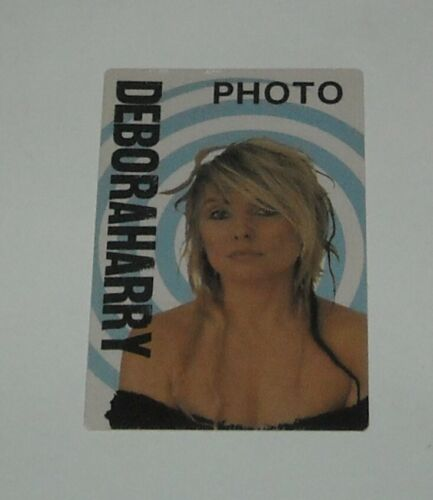 UNUSED OTTO SATIN CONCERT PHOTO BACKSTAGE PASS DEBORAH HARRY BLUE TARGET