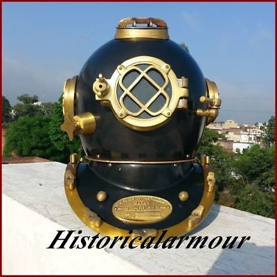 New Scuba Brass vinatge Divers Helmet U S Navy Mark V Full Size Diving Helmet""